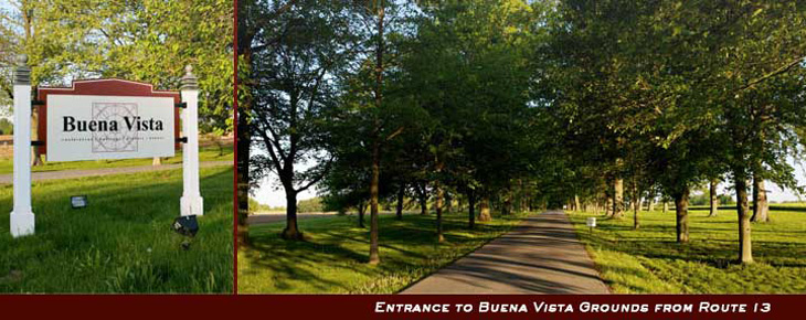 Entrance to Buena Vista Grounds from Route 13